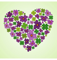 Love spring heart vector