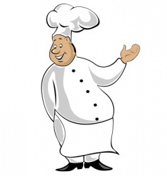 chef in uniform vector image