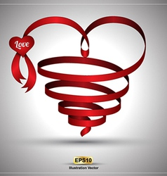 Heart ribbon twist vector