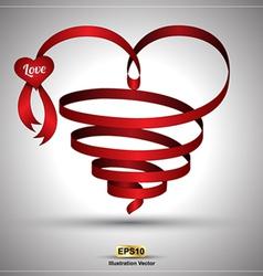 Heart ribbon twist vector