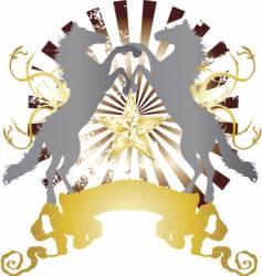 Heraldry horse design vector