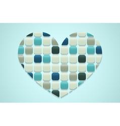 mosaic heart vector image
