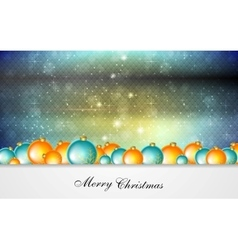 Bright greeting background with christmas balls vector