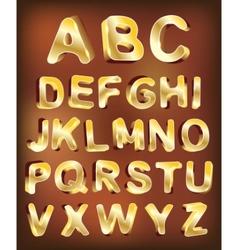 3d gold alphabet for design vector image