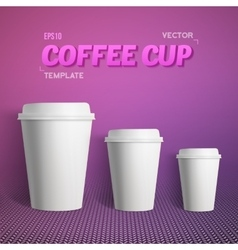 Coffee cup set photorealistic 3d vector
