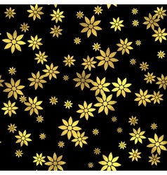 Abstract seamless pattern with gold circles vector image