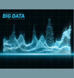 Abstract blue big data visualization vector