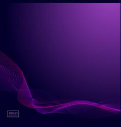 abstract dark purple waves line violet wave vector image vector image