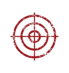 Aim red grunge icon vector