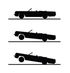 car speed set in black color vector image