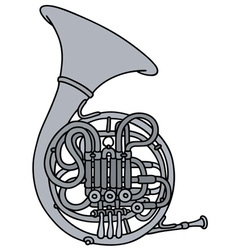 Classic french horn vector