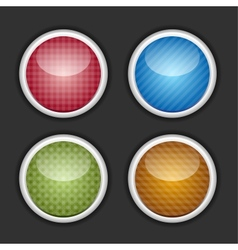 Color buttons set vector image vector image