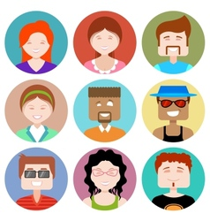 Flat Design People Icon vector image vector image