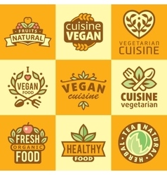 Fresh Organic Labels and Elementsicons vector image vector image