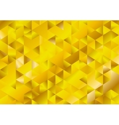 Gold glitter triangles mosaic technical background vector image