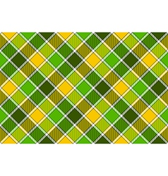 Green yellow spring diagonal check seamless vector