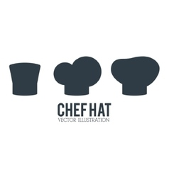 Hat icon set of restaurant chef design vector image vector image