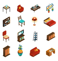 House interior icons set vector