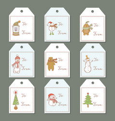 Labels for the christmas theme vector