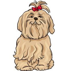 Maltese dog cartoon vector
