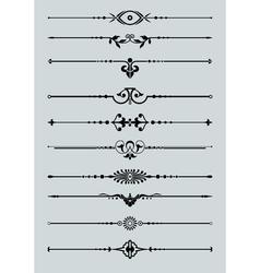 Ornamental lines vector