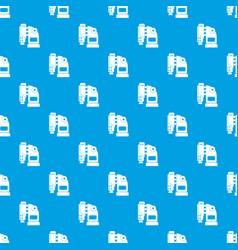 pneumatic hammer machine pattern seamless blue vector image