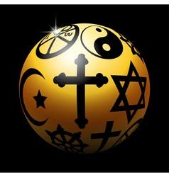 Religious ball vector image vector image