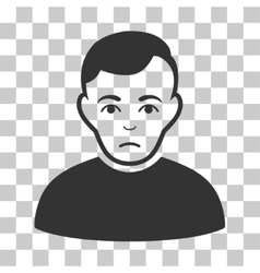 Sad Man Icon vector image
