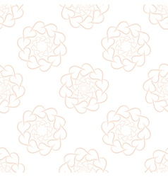 Seamless pattern of pink leaves or hearts vector image
