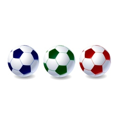 Set of soccer balls vector image vector image