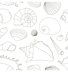 Shell set pattern vector image vector image