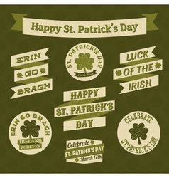stpatricks day design elements vector image