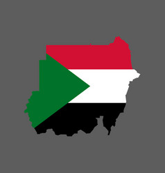 Sudan flag and map vector