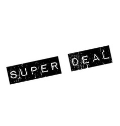 super deal rubber stamp vector image vector image