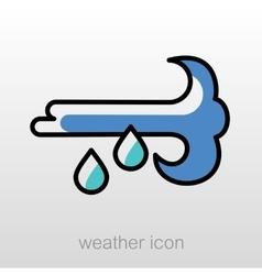 Wind Rain icon Meteorology Weather vector image