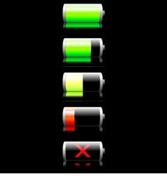 Battery charge indicator vector image