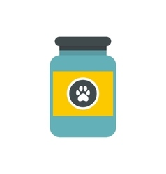 Vitamins or medicament for animals icon vector