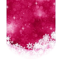 Red background with snowflakes EPS 8 vector image