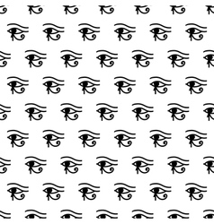Eye of Horus seamless pattern vector image
