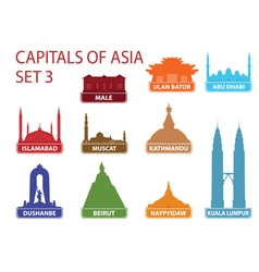 Capitals of Asia vector image