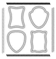 Set of brushes and rope frames vector
