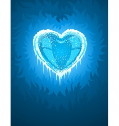 Cold icy heart vector