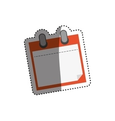 Isolated note paper vector