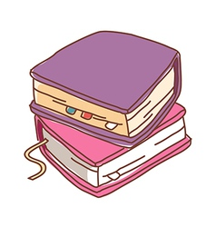A books are piled up vector