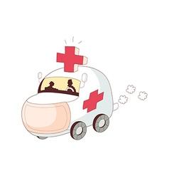 A running ambulance vector image