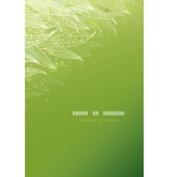 Green glowing leaves vertical template background vector