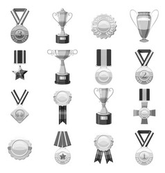 Award icons set monochrome vector
