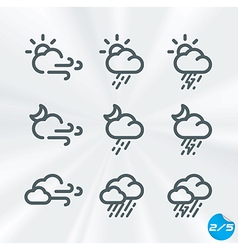 Weather icons collection vector