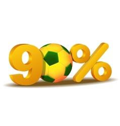 ninety percent discount icon vector image