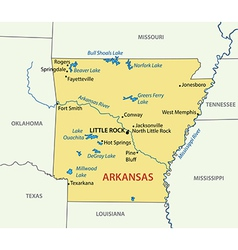 Arkansas - map vector